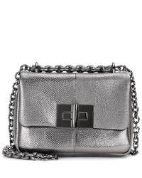 Tom Ford Metallic Natalia Small Snakesin Shoulder Bag