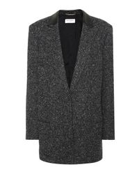 Blazer in lana di Saint Laurent in Gray