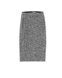 Max Mara Gray Rosita Wool-blend Midi Skirt