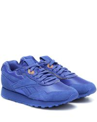 Reebok X Victoria Beckham Blue Rapide Suede Sneakers