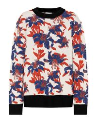 Dries Van Noten Blue Pullover mit Wollanteil