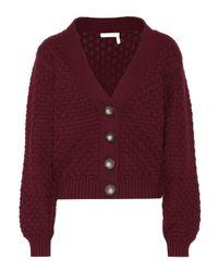 See By Chloé Purple Cardigan aus Baumwolle