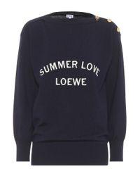 Loewe Blue Sweatshirt aus Wolle