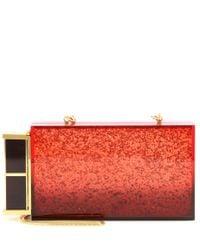 Tom Ford Lipstick Glittered Plexiglass Box Clutch