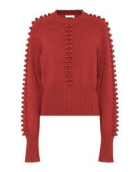 Chloé Red Knitted Sweater