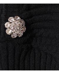 Pull en coton mélangé à ornements Ganni en coloris Black