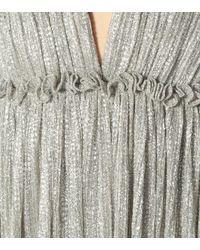 Vestido largo de lamé plisado Jonathan Simkhai de color Metallic