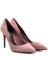 Dolce & Gabbana Pink Kate Suede Pumps