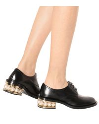 Nicholas Kirkwood Black Casati Embellished Leather Derby Shoes