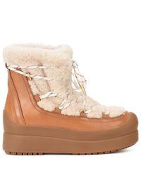Tory Burch - Brown Courtney 60mm Shearling Ankle Boots - Lyst