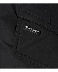 Woolrich Black City Fur-trimmed Down Coat