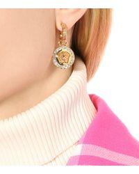 Versace Metallic Ohrringe mit Kristallen