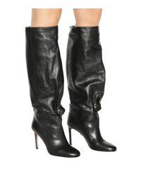 SAMUELE FAILLI Black Betsy 90 Leather Boots