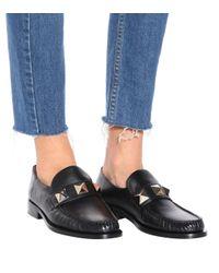 Valentino Black Loafers aus Leder