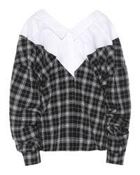 Unravel Multicolor Cotton And Silk Checkered Top