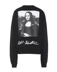Sweat-shirt en coton imprimé Off-White c/o Virgil Abloh en coloris Black