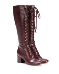 Gianvito Rossi | Brown Mackay Leather Boots | Lyst
