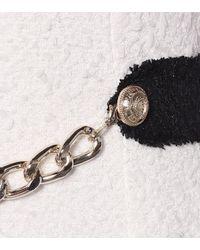 Balmain White Tweed-Minikleid mit Neckholder