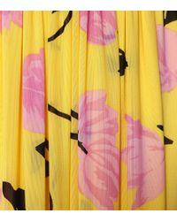 Ganni Yellow Exklusiv bei Mytheresa – Bedrucktes Maxikleid aus Mesh