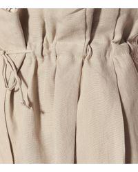Acne Natural High-rise Linen Pants