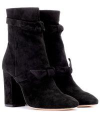 Alexandre Birman Black Ankle Boots aus Veloursleder
