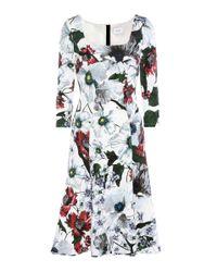 Erdem White Toni Floral-printed Jersey Dress