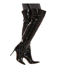 Rennes leather over-the-knee boots Gianvito Rossi de color Black