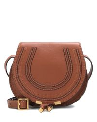 Chloé - Brown Marcie Small Leather Shoulder Bag - Lyst