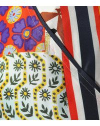 Tory Burch Blue Sienna Printed Silk Trousers