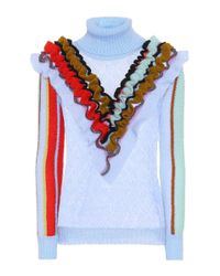 Anna October Blue Wool Sweater