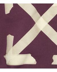 Sweat-shirt à capuche en coton Off-White c/o Virgil Abloh en coloris Purple