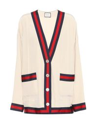 Cardigan en soie Gucci en coloris White