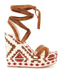Gianvito Rossi Brown 'cheyenne' Wedge Sandals