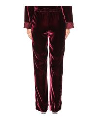 F.R.S For Restless Sleepers Red Crono Velvet Trousers