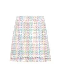 Thom Browne Multicolor Cotton-blend Tweed Miniskirt