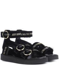 Nicholas Kirkwood Julia Black Velvet Sandals