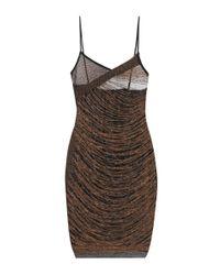 Balmain - Metallic Sleeveless Dress - Lyst