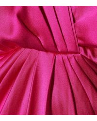 Abito lungo in raso di seta di Monique Lhuillier in Pink