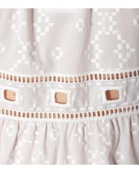 See By Chloé White Embroidered Cotton Top