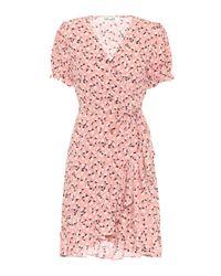 Diane von Furstenberg Pink Wickelkleid Emilia aus Crêpe