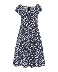 Marni Blue Floral-printed Cotton Dress