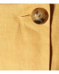 Jumpsuit Diana in lino di Lisa Marie Fernandez in Yellow