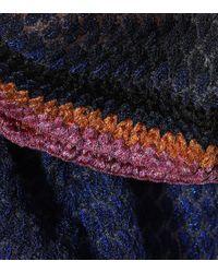 Caftano in maglia lamé di Missoni in Blue
