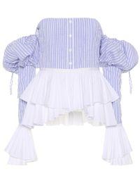 Jonathan Simkhai Multicolor Off-Shoulder-Top aus Baumwolle