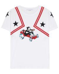 Stella McCartney White Printed Cotton T-shirt