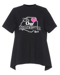 Vetements Black Printed Cotton T-shirt