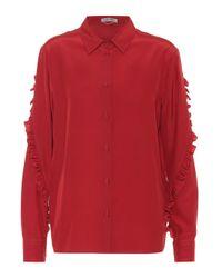Bottega Veneta Red Bluse aus Seide