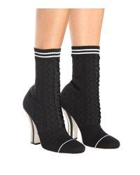 Fendi Black Ankle Boots Rockoko