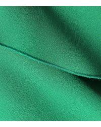 RED Valentino Green Crêpe Top