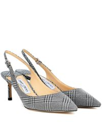 Jimmy Choo Metallic Slingback-Pumps Erin 60
